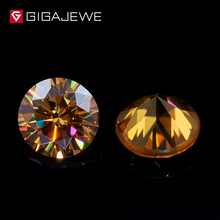 IGAJEWE Fashion Rough Moissanite Loose Diamond Golden Color Gemstone Moissanite Stone Hardness Beads Stone Jewelry