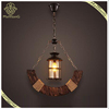 Acient Wooden Decorative Iron Base Pendant Lamp, Wholesale and Retail Pendant Lamp