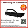 front bumper for jeep wrangler 87-95 direct placement