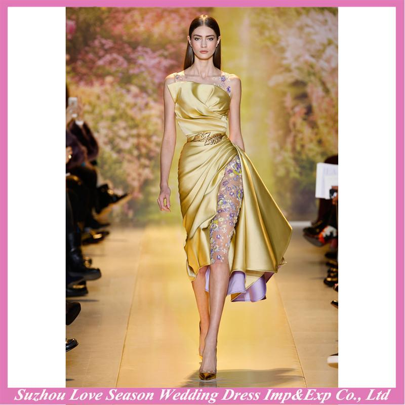 HE9457 New design gold evening dress malaysia online shopping with great price