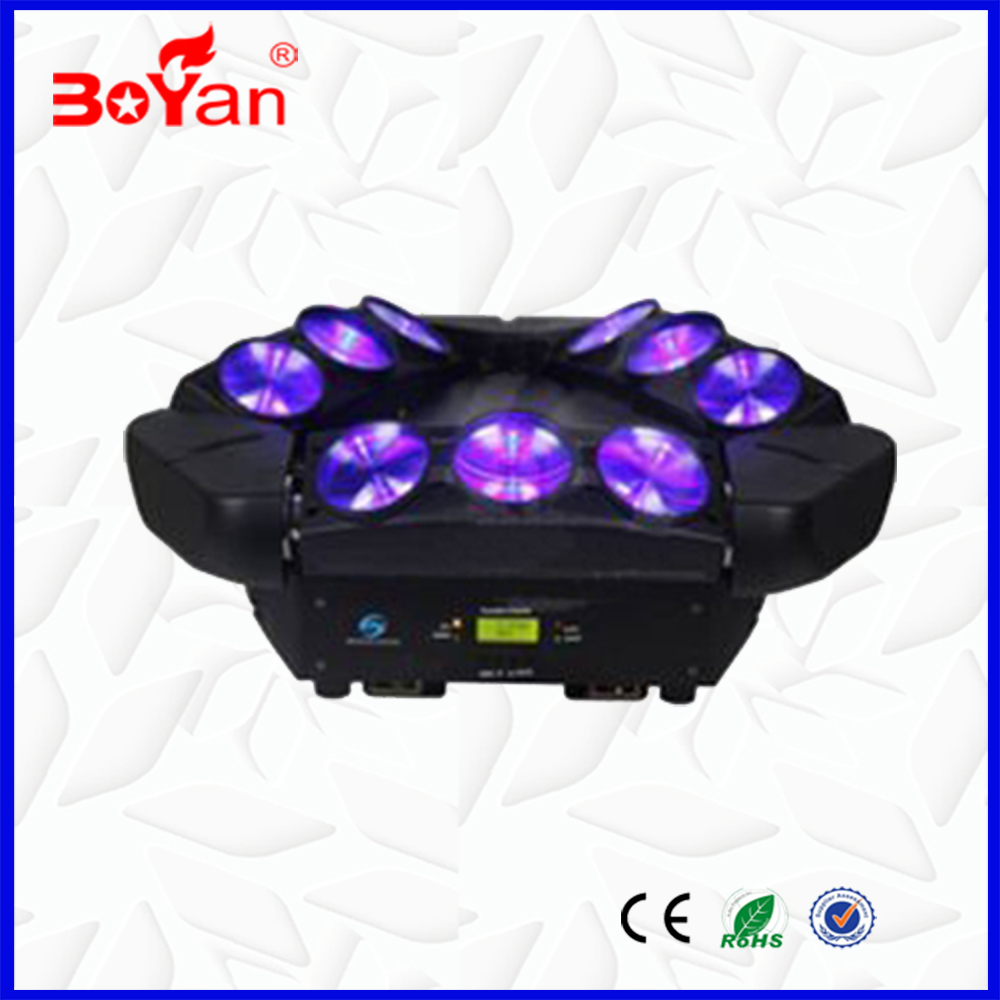 New 9 pcs 4 IN 1 RGBW 10W LED linear dmx spider moving head mini led club