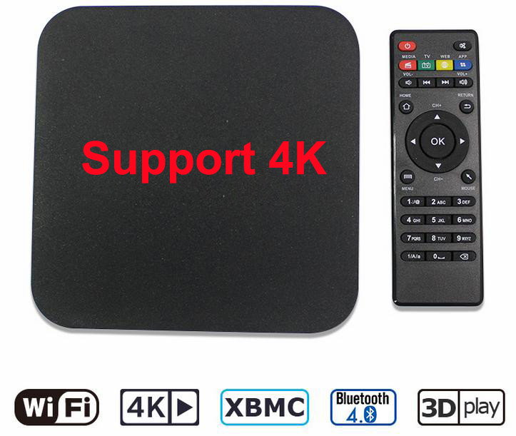 Android 5.1 RK3229 Chipset 28nm Quad Core MXQ 4K TV Box with 1G and 8G Memory