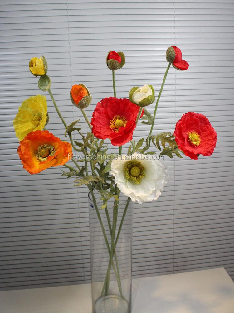 Artificial simulation flower poppy markingred plastic poppy flowers img0679g mightylinksfo