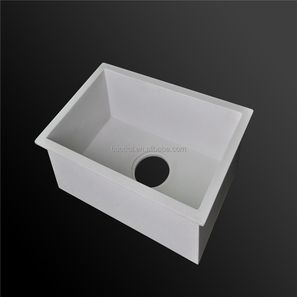 Pure white acrylic solid surface stone trough sinks