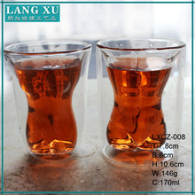 boroslicate glass double wall cup mouth blown lady shape beer glass