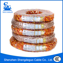 2 core pvc coated twisted multi strand electrical wire solid 18awg