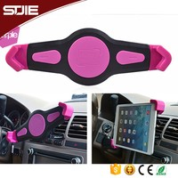 STJIE - Rohs approved ABS raw plastic universal high quality rotating air vent car tablet pc holder mount stand for ipad