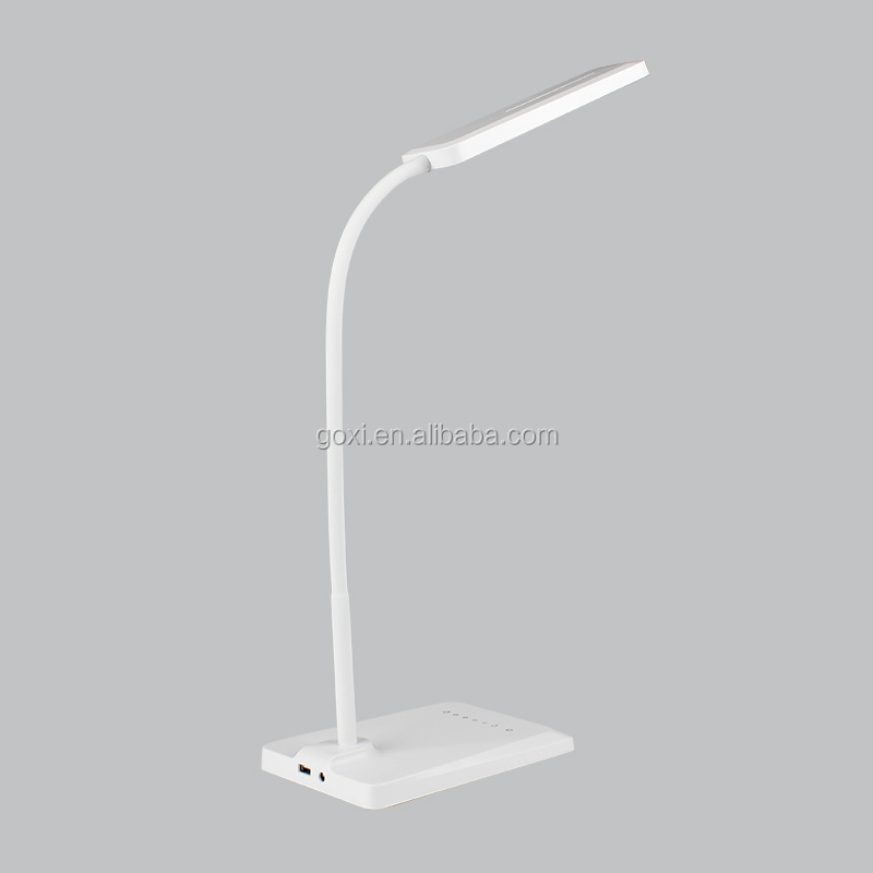 Eye protection LED table lamps desk light 5V 1~6W white ABS USB socket touch switch usb rechargeable led reading light