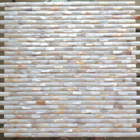 Brick convex mother of pearl shell mosaics for bathroom and kitchen wall backsplash