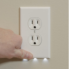 No Batteries Or Wires - Installs In Seconds Guildlight Outlet Cover Sensor Led Night