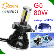 auto parts ,100% waterproof IP68 high power led headlight bulbs h4 led 80w 8000lm h1 h3 h13 h11 9005 9006 9007 h7 led headlight