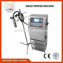 Aautomatic batch expiry date inkjet printing machine for plastic bottle