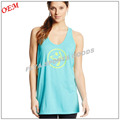 China oem high quality 50% Cotton/50% Polyester low cut long singlet tops