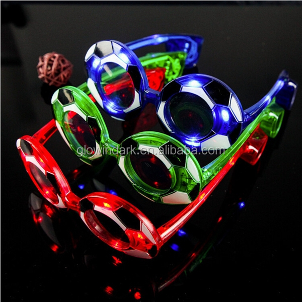Shenzhen party event led football sunglasses led fashion sunglasses LED stylish sunglasses for football fans