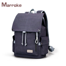 Marroke Fashion Leisure Rucksack Canvas School Bags Laptop Backpack Bag For Men