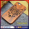 new arrival wholesale phone case Tribal wolf wooden case for iphone 6/6s