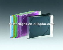 5mm CD Case Single CD Jewel Case with colour tray