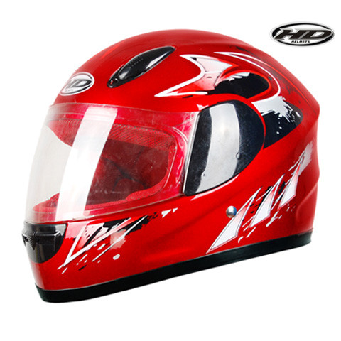 Huadun children motorcycle cross helmet children off road full face red motor helmet HD-203