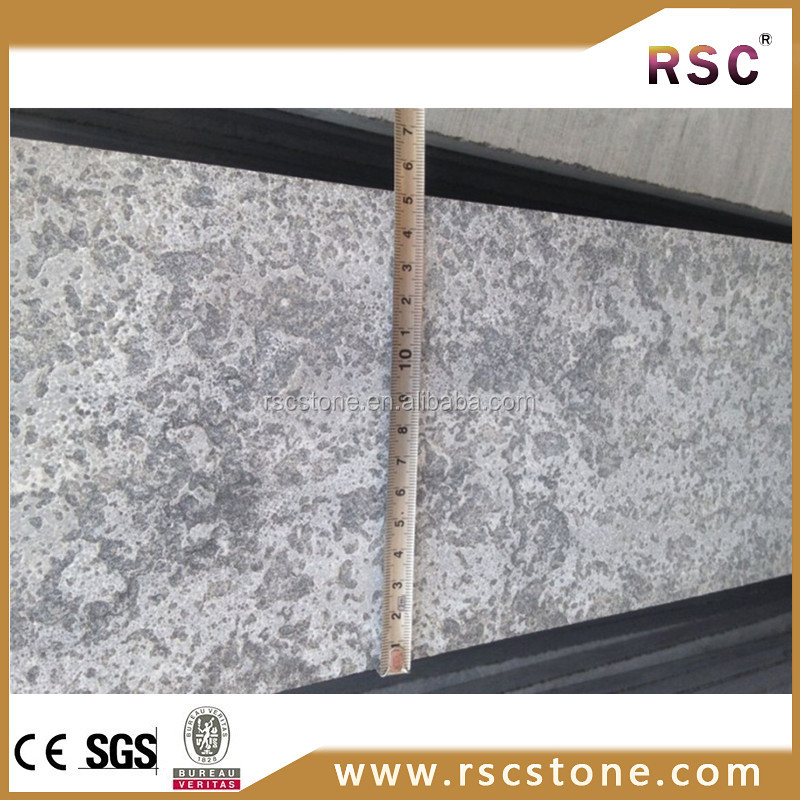 outdoor anti-slip blue stone granite floor tiles