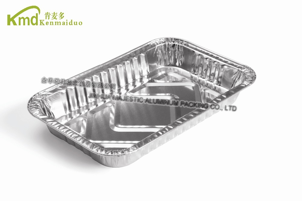 2017 Popular Style Aluminum Foil Rectangular Container