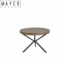 Mayco antique chinese Metal Wood Round End Table for Living Room