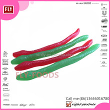 Animal Shaped Fruit Strawberry/Green Apple Gummy Snake Jelly Candy
