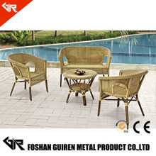 GR-R65016 Wholesale poly rattan garden sofa poly rattan furniture hd designs outdoor furniture