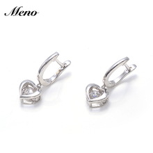 Jewelry Trendy Design 925 Silver Cz Dancing Diamond English Lock Earrings