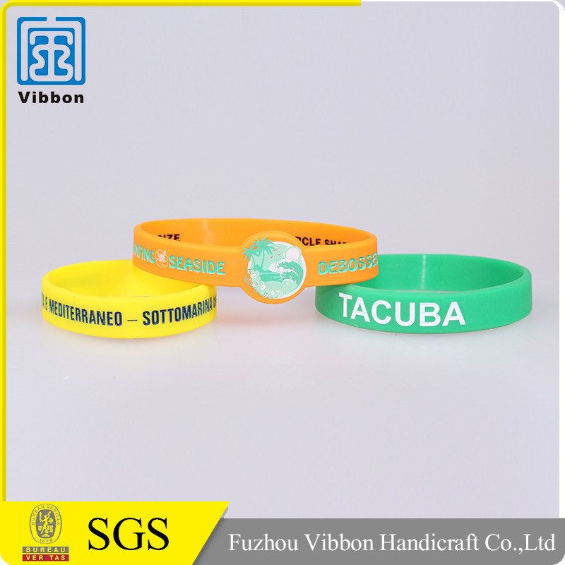 Hot sale custom made promotional bracelet silicone