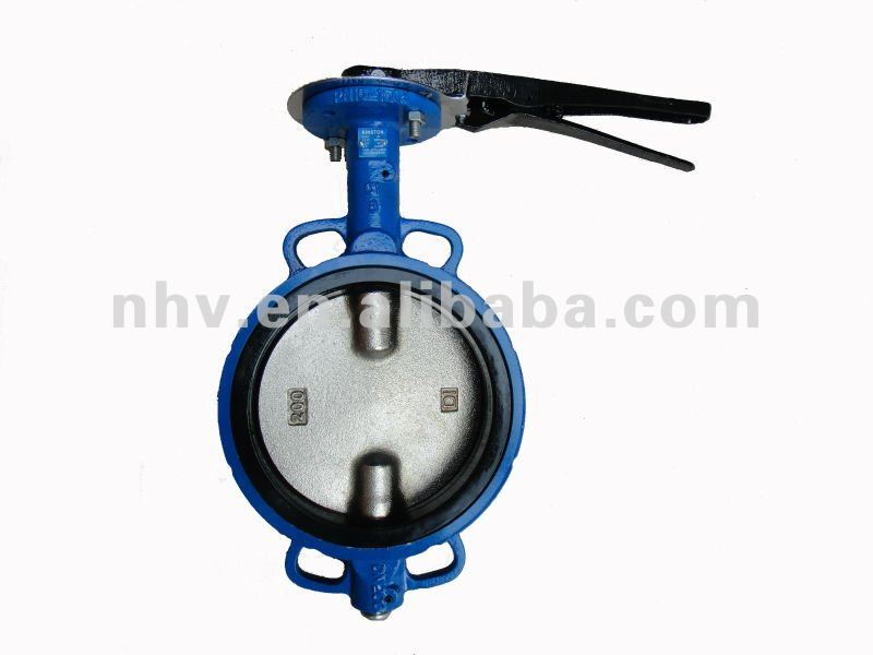 pn16 hand lever operated wafer type german butterfly valve without pin