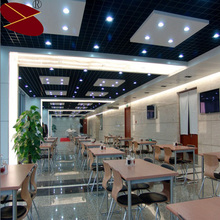 Film coated types of suspended aluminum sheet of open metal grid cell ceiling
