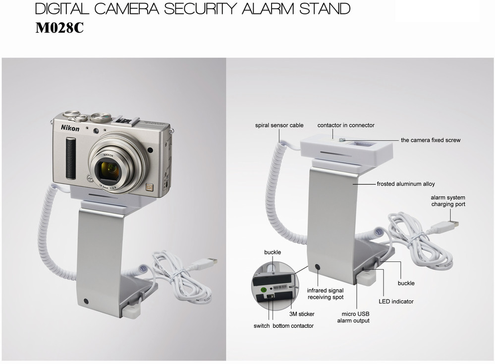 10 Years EASTOPS High Quality Security Exhibition Or Supermarket Display Buglar Alarm