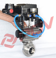 best price flange sanitary butterfly valve for flow control