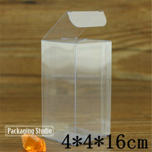Professional thin rectangular clear plastic boxes , small transparent PVC box
