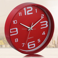 High quality red quartz clock with best movement OEM