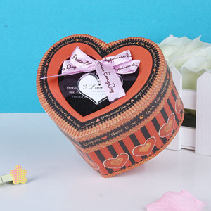 Heart shape cardboard paper box packaging gift box with PET window