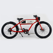 Retro chopper fat tire electric bicycle