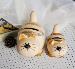 Cute cat shape money bank, animal shape coin bank, donation money box