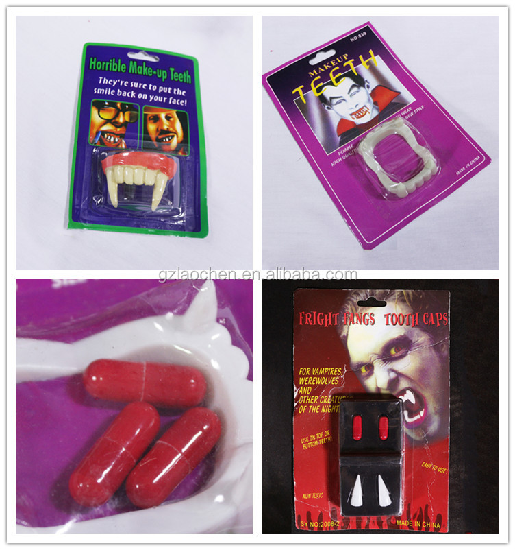 funny vampire fake teeth toy halloween party vampire fangs for promotion