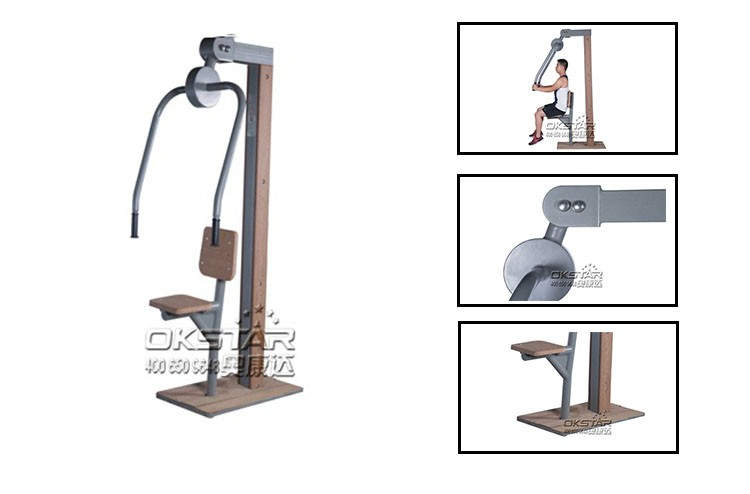 KF-Z01 Chest press wooden playground outdoor fitness equipment
