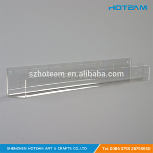 Pop Up Wall Mounted Acrylic Bathroom Display J Shelf