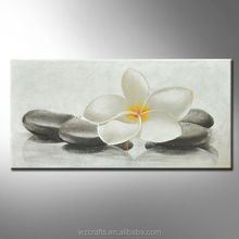Saipan's famous flower Plumeria showed on oil painting