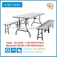 6FT outdoor small suitcase plastic folding picnic table bench hangzhou
