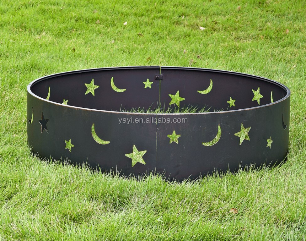 moon & star camping fire pit ring