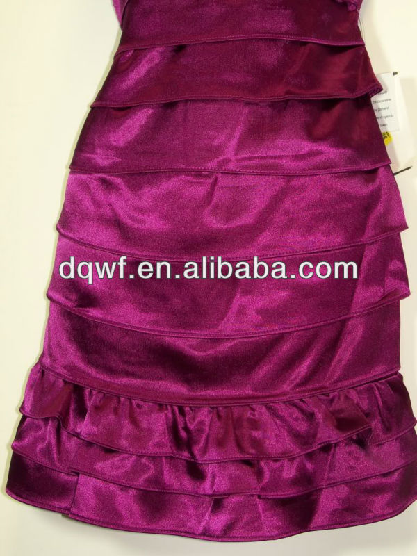 185T 100% polyester Close fitting Supple patterned satin lining fabric