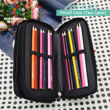 2017 New Simple Sublimation Pencile Case, Blanks Stationary 2 Layers Leather Pencile Case for Students