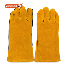 SHINEHOO Yellow Cow Split Leather Insulated Welding Work Gloves