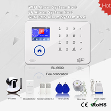 Timing arm/disarm function/433/315mhz Frequency WIFI GSM wireless home alarm security system with RIFD card