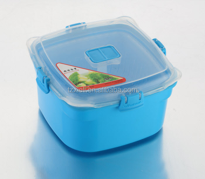 food-grade PP eco-friendly plastic fresh box square food container with vent 1760ml 8611