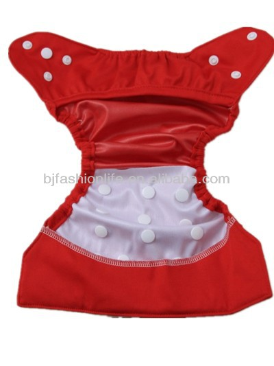 2016 wholesale plain color PUL polyester baby cloth diaper cover nappy cover without insert